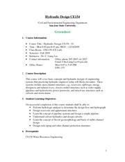 Syllabus - CE154 - Fall 2009