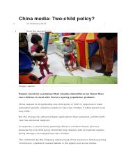 NOTES ON TWO CHILD POLICY[3]