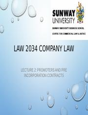 Lecture 2 - Promoters and Pre-incorporation Contracts.pptx
