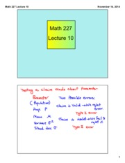 Math 227 Lecture 10
