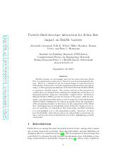 Particle-fluid-structure interaction for debris flow impact on flexible barriers.pdf