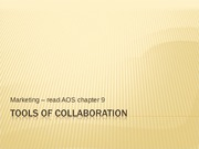 Tools of marketing collaboration