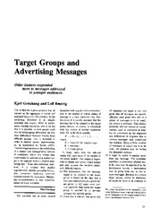 Target Groups and Advertising messages
