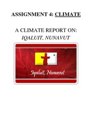 Assignment on Climate Reports