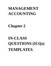 ICQs - Chapter 2 Templates