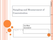 Sampling and Measurement of Mass Concentration