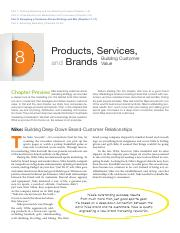 Chapter 08 - Products, Services, and Brands - Building Customer Value