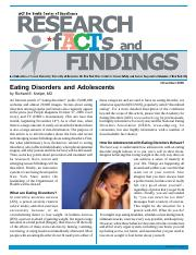 eating disorder in adolence
