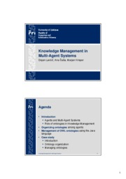 Knowledge Management in Multi agent system_DLavbic