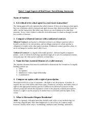Quiz 2 - Legal Aspects of Real Estate.docx