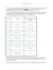 Scarcity and Choice Worksheet