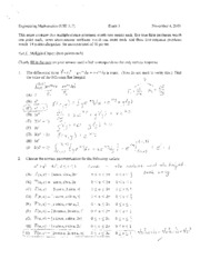 exam 3 fall 2009 solutions