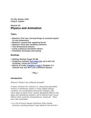Module 4 - Physics and Animation