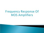 lec2----low Frequencty Response
