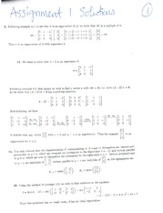 ASSIGNMENT 1- EIGENVECTORS