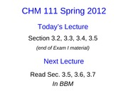 Lecture 8 CHM111 Student Slides