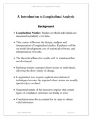 Note 5 Introduction to Longitudinal Data Analysis