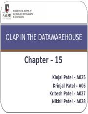 Chap 15 - OLAP in Datawarehouse.pptx