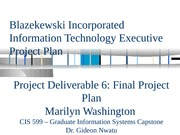 Section 3_Project Plan PowerPoint Presentation
