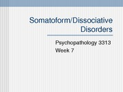 somatic- dissociative