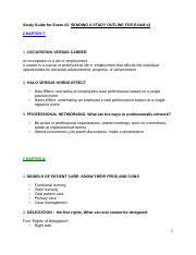 Study Guide for Exam #3 for Intro to Nursing.doc