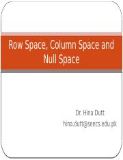 15. Row Space, Column Space and Null Space.pptx