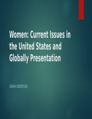 Women-Current Issues in the United States and Globally Presentation week4-1.pptx