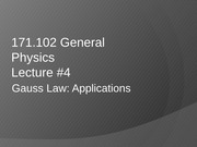 AS.171.102 Gauss Law Applicatins notes