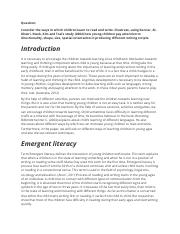 Child Reading and Writing Development.docx