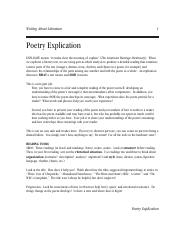 Rowlands-Poetry Explication