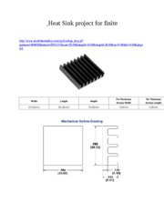 Heat Sink project for finite