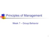 week 7 group behaviour