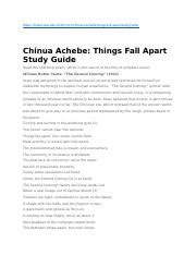 Eng130 - Intro to Lit - Chinua Achebe Things Fall Apart Study Guide.docx