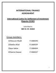 International Centre for Settlement of Investment Disputes.docx