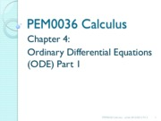 14213_Chapter 4 Part 1 - Ordinary Differential Equation