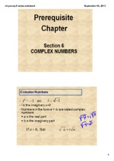 Complex Numbers Review