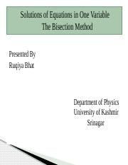 bisection method ppt