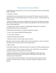 Functions of Central Bank (pp) 2 pages.docx
