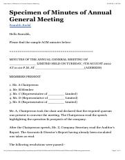Specimen of Minutes of Annual General Meeting.pdf
