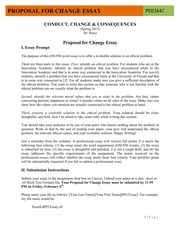 Proposal for Change Essay Guidelines (Essay 2)