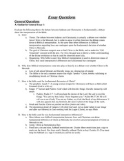 L&A C70 Final - Essay Outlines