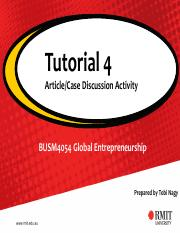 BUSM4054 Tutorial 4- Weekly Article-Case Study Activity