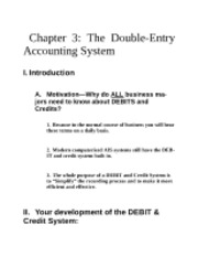 Chapter 3 Double Entry Accounting