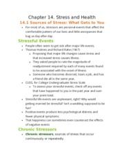 Chapter 14. Stress and Health