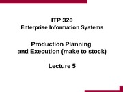 Lecture 5 - Production