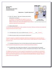 Behaviorism Discussion and Study Questions Answered BBSE