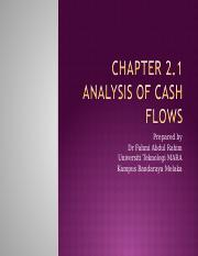 Chapter 2.1 analysis of cash flows.ppt