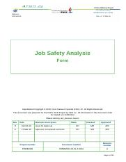 Jsa For Working At Height Docx Al Zour Refinery Project Job Safety Analysis P055bzor 00 51 4 S009 Alghanim International Rev A 17 Mar 16 Job Safety Course Hero