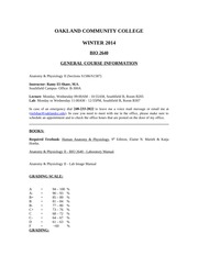 HW_A&P 2640_Syllabus Winter 2014