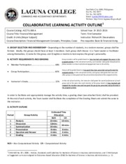Collaborative Learning Activity Outline